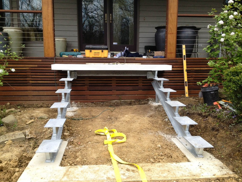 My work floating stairs thinking outside the boxwood for How much to build a floating deck