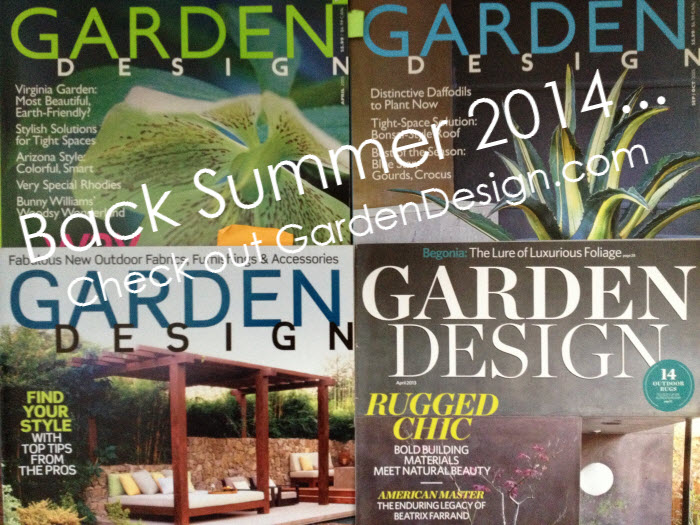 Garden Design Magazine is back in 2014, website live now!