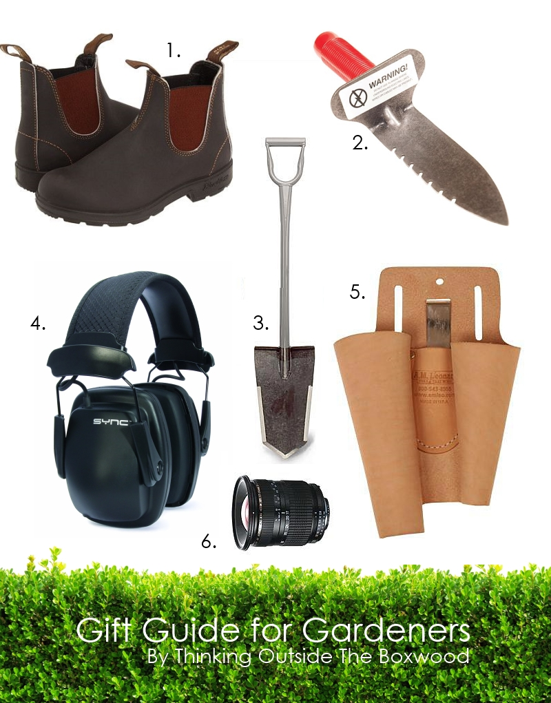 Gardener Gift Guide from Thinking Outside the Boxwood