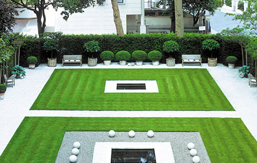 The hotel features a Zen Garden, Hempel Garden Square, designed by Anouska Hempel, Thinking Outside the Boxwood