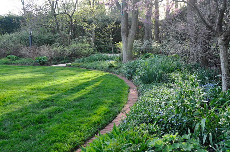 The Benefits of an Edge, Thinking Outside the Boxwood, Brick Edging