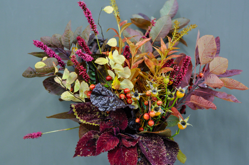 Arrangement of the week - October 27, 2014, Thinking Outside the Boxwood