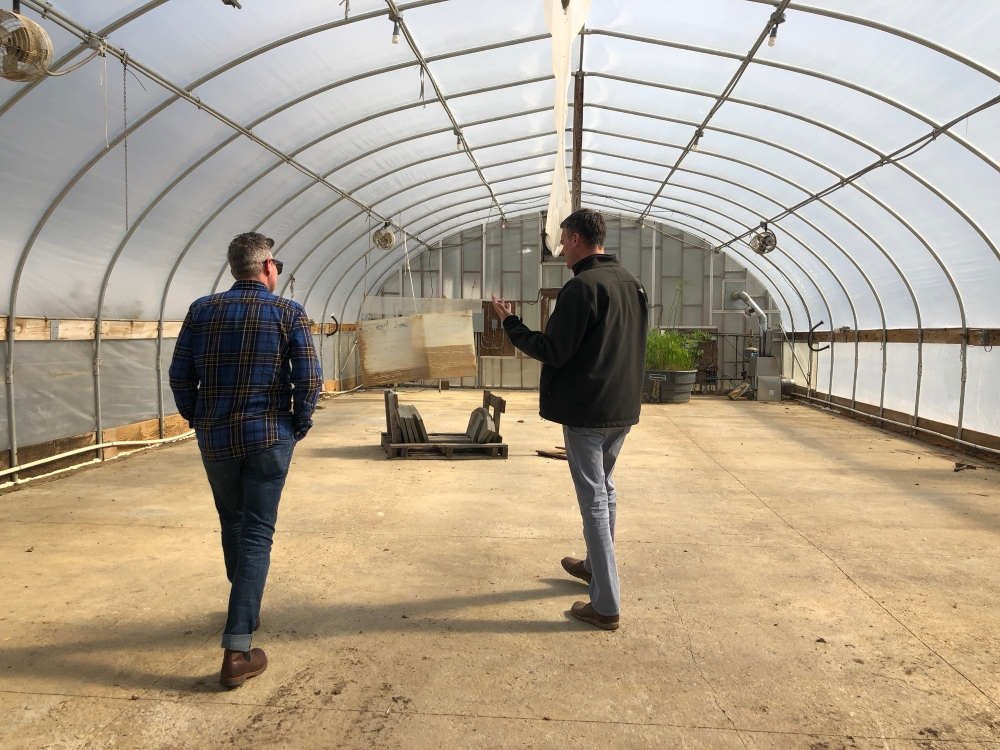 Touring the heated greenhouses at Stoney Bank Nurseries, where they force plants for the Philadelphia Flower Show. - More at Thinking Outside the Boxwood