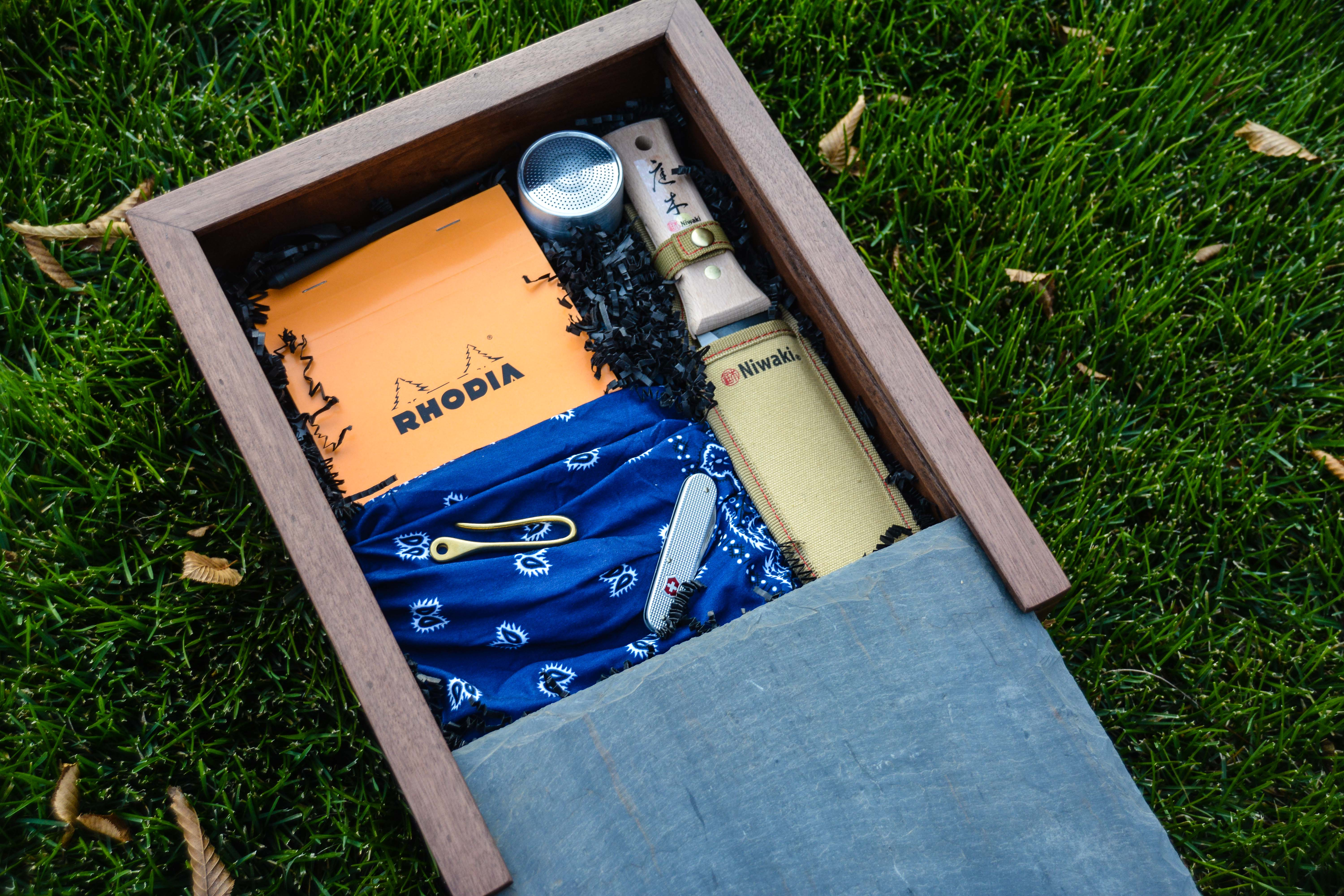 The Gardener's Everyday Carry Curated Gift Box from Thinking Outside the Boxwood. The Gardener's Holiday gift guide