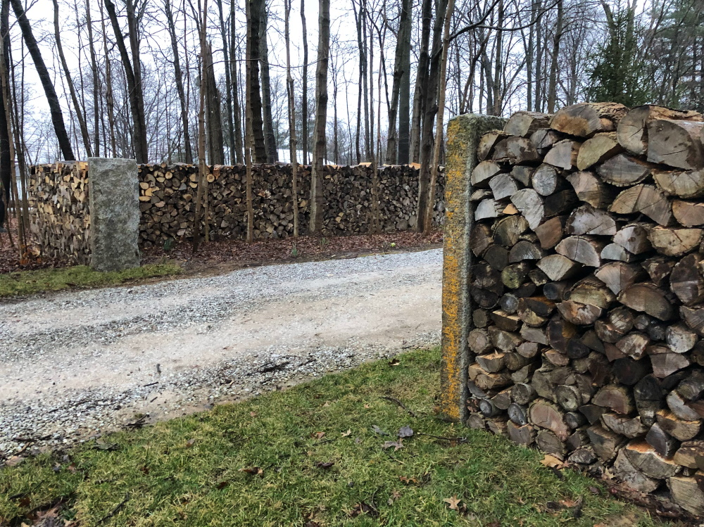 The Maine Entrance - Building our natural entrance to our property. Thinking Outside The Boxw