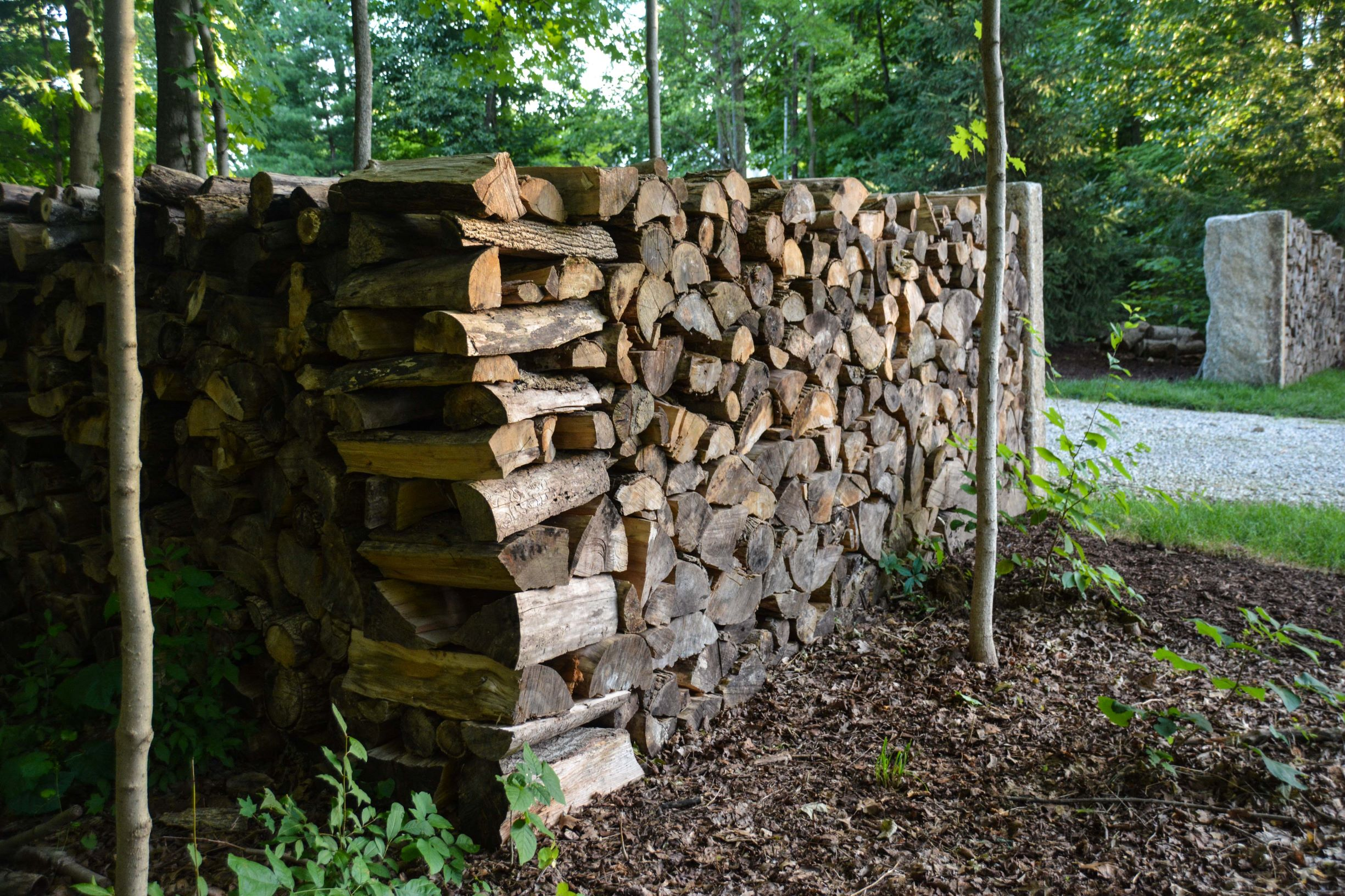 The Maine Entrance - Building our natural entrance to our property. Thinking Outside The Boxwood