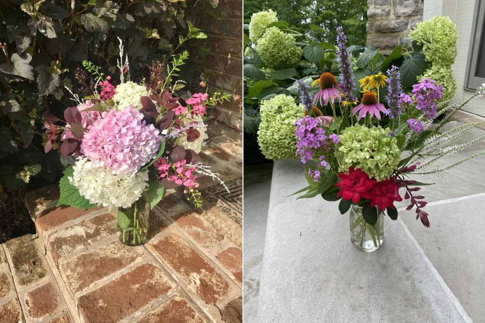 Garden Harvest - Making a bouquet from your garden. McCullough's Landscape and Nursery - Thinking Outside the Boxwood